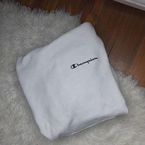 Vintage Champion 90s White Hoodie Sweatshirt